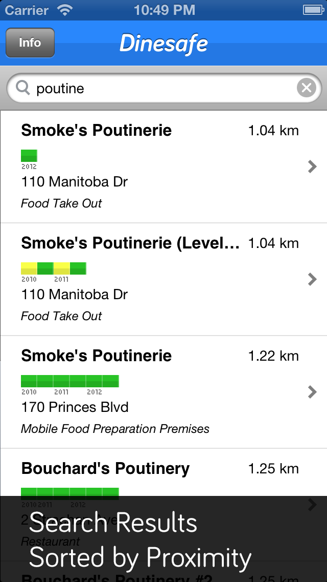 Dinesafe App Screen 5
